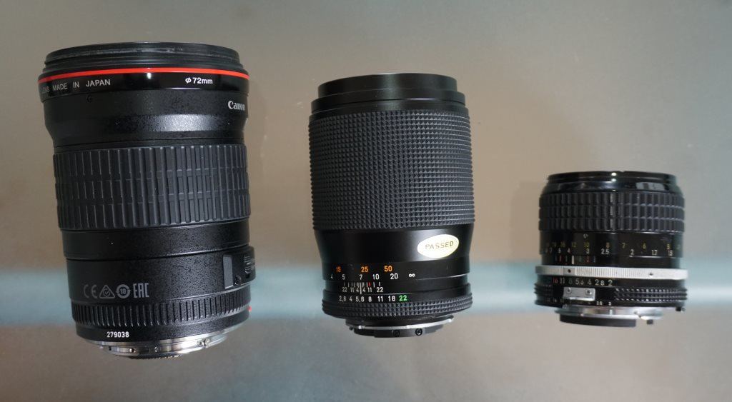 Canon EF 135mm f2 USM L-lens compared with Carl Zeiss Sonnar T* 135mm f2.8 and Nikkor Ai 85mm f2