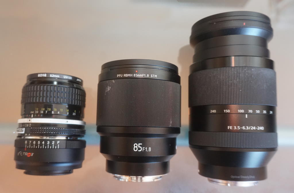 Lens review: Viltrox 85mm f1.8 prime lens, Nikkor Ai 85mm f2 classic lens (with adapter) and Sony FE 24-240mm zoom lens