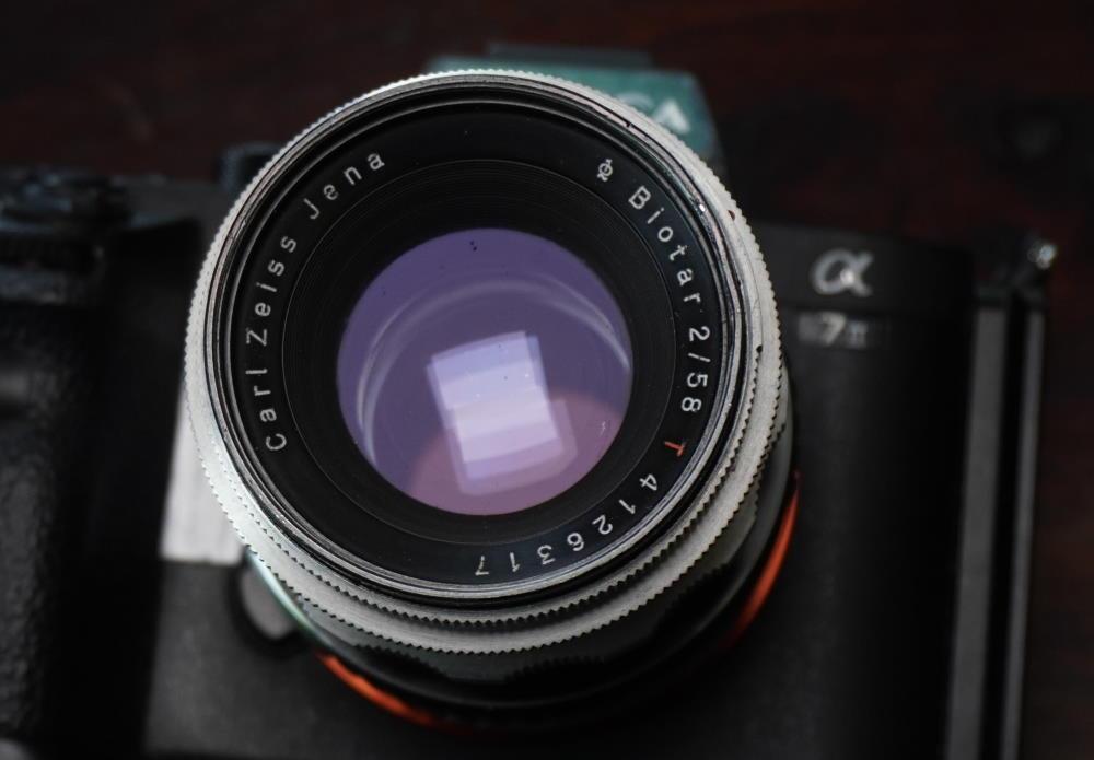 Carl Zeiss Jena Biotar 58mm f2 lens on Sony alpha 7ii