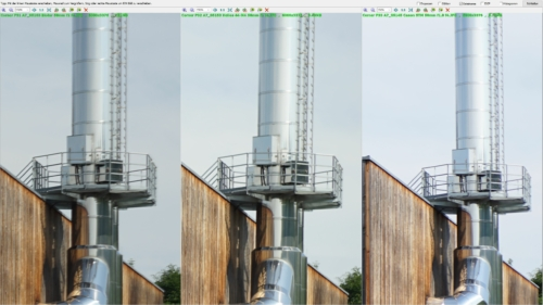 Corner sharpness Biotar 58mm f2 vs. Helios 44M-4 58mm f2 vs. Canon EF 50mm f1.8 STM at aperture f4