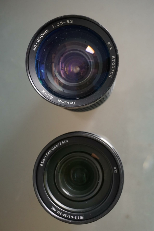 Tokina SZ-X 28-200mm made in 1987 vs. Sony FE 24-240mm f3.5-f6.3 modern superzoom